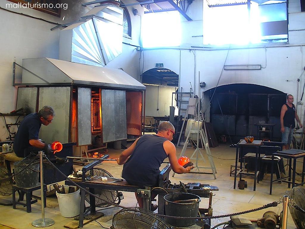 taller de vidrio soplado malta
