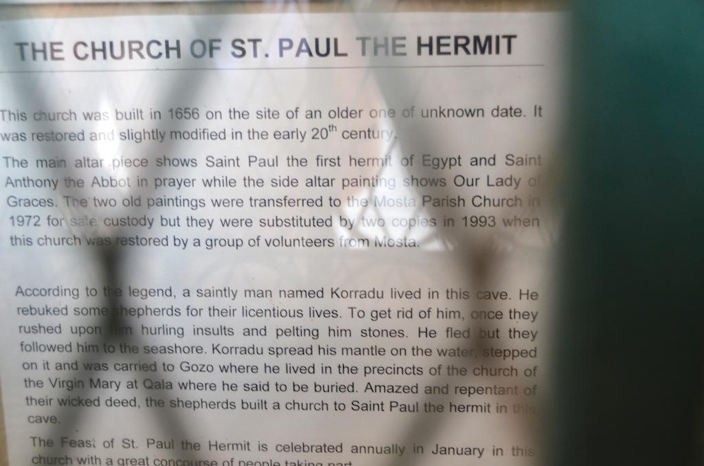 historia de capilla san pablo hermitaño