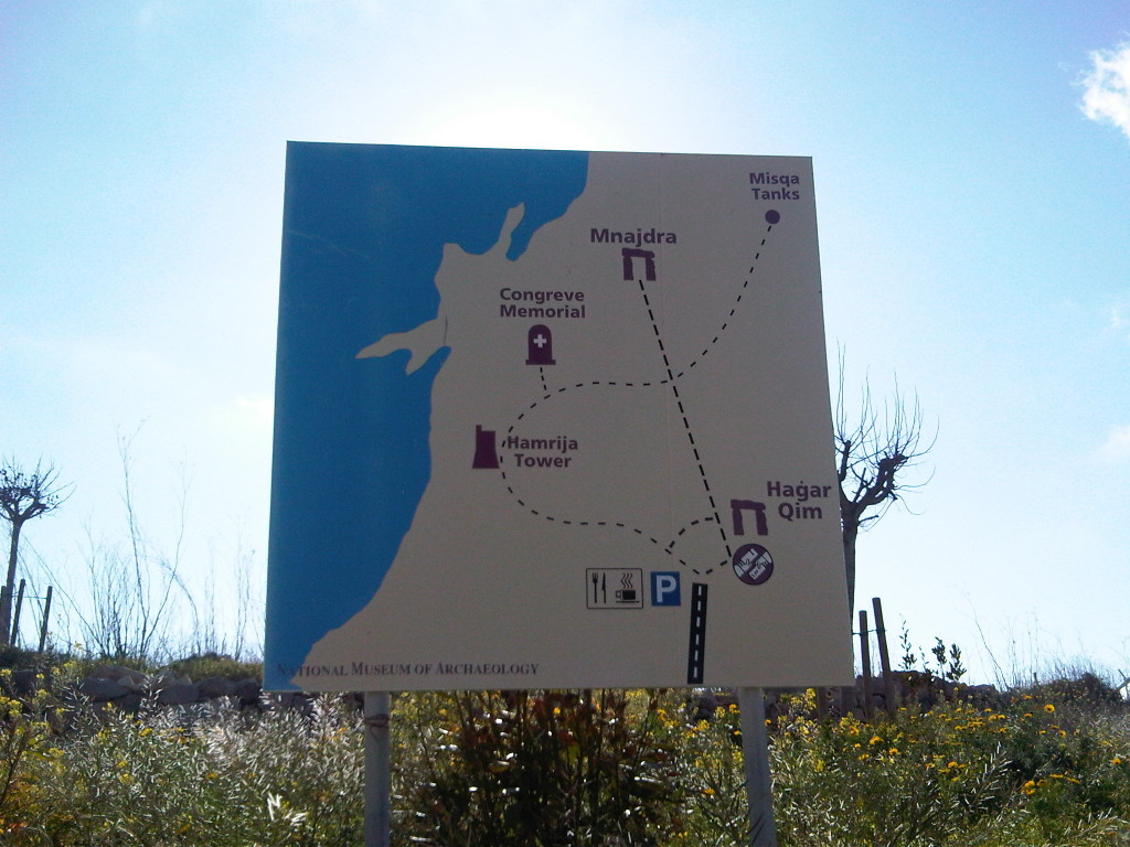 Mapa de Hagar Qim y Mnajdra - Malta