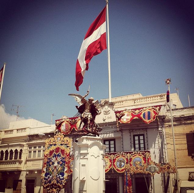 La Bandera de la Orden de San Juan - Kirkop